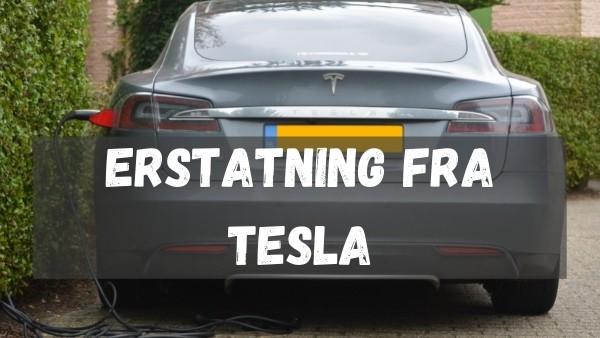 En Tesla som står å lader