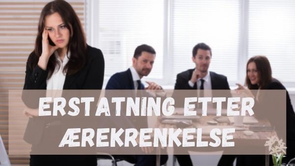 En kvinne som blir utsatt for ærekrenkelse av sine tre kolleger