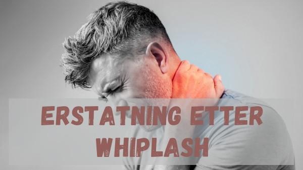 En mann med sterke smerter som holder en hånd på nakken etter å ha fått påvist en whiplash