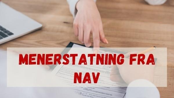 En advokat og en klient som søker om menerstatning fra NAV