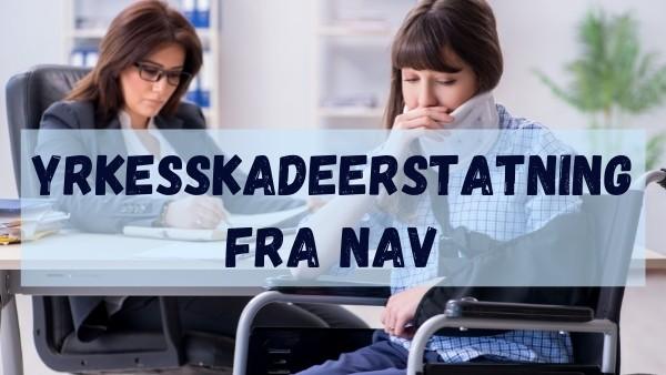 En veileder og en klient sitter på NAV og skriver en søknad om yrkesskadeerstatning