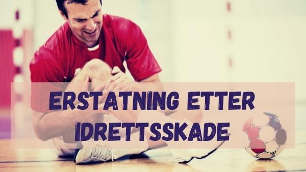 En mann som sitter på gulvet i en gymsal etter å ha pådratt seg en idrettsskade