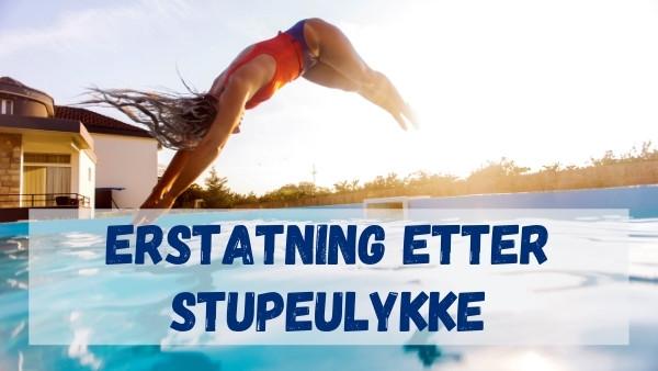 En kvinne som hopper i vannet før det som etterhvert viser seg å bli en stupeulykke