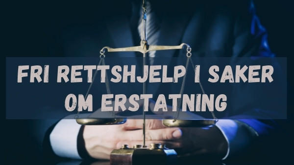 En advokat som sitter med knepte hender og forteller om fri rettshjelp i saker om erstatning