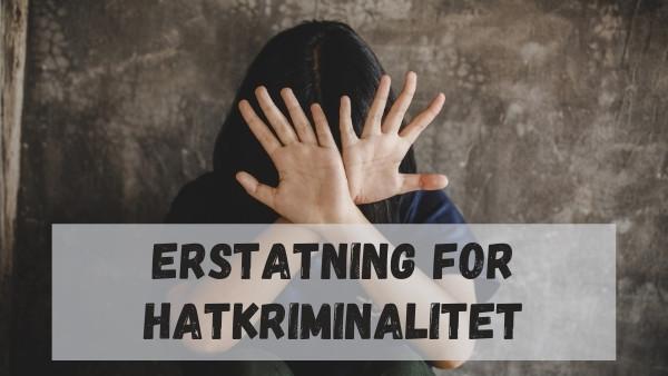 En kvinne holder hendene foran ansiktet etter å ha blitt utsatt for hatkriminalitet