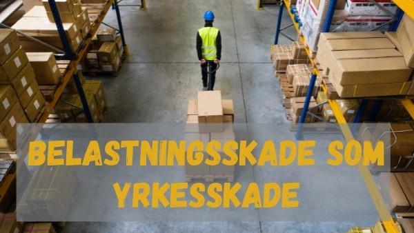 En lagerarbeider flytter en pall med varer som kan føre til belastningsskade