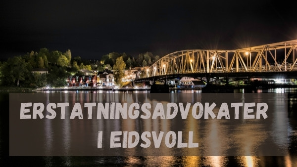 Bilde av en bro og speilblankt hav i Eidsvoll