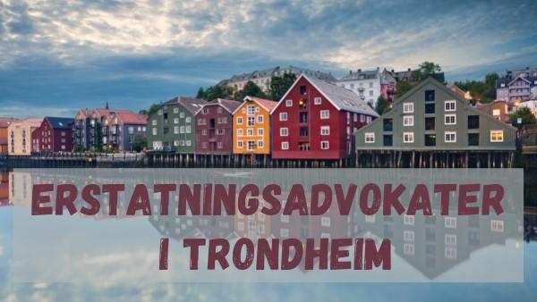 Brygger og speilblankt hav i Trondheim