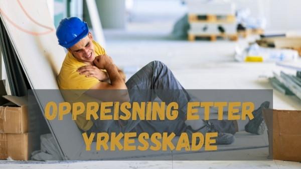 En mann som ligger på gulvet etter å ha blitt utsatt for en yrkesskade