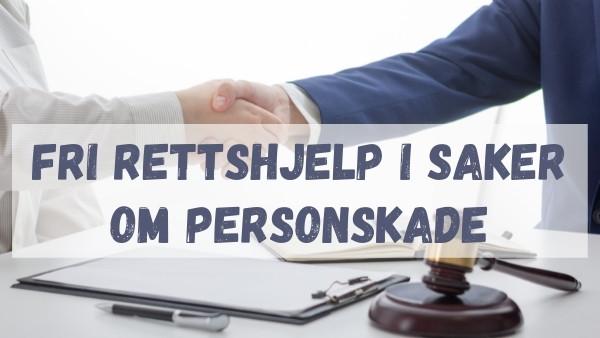 En klient gir hånden til en advokat som er spesialisert innen personskade