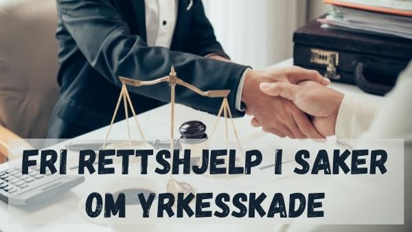 En advokat som er spesialisert innen yrkesskade gir hånden til sin klient