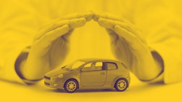 En bil som er forsikret